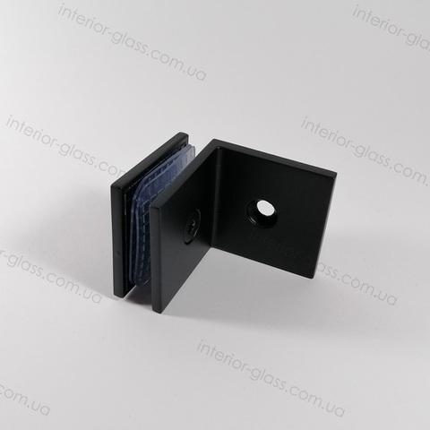 Соединитель (держатель) стена-стекло HDL-722 BLK чёрный матовый
