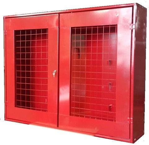 Щит пожарный закрытый металлич. с сеткой 1200*700*300
