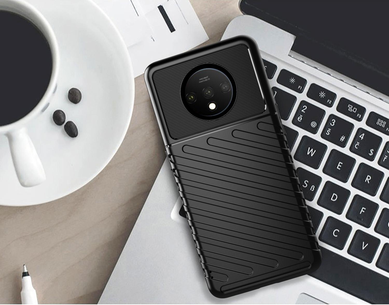 Чехол OnePlus 7T цвет Black (черный), серия Onyx, Caseport