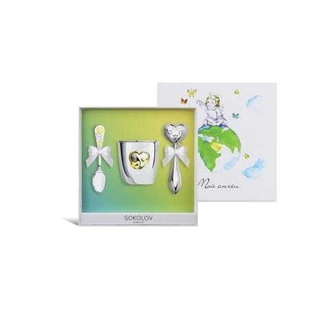 24044 Подарочный набор для малыша (погремушка+ложка+кружка)