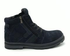 Синие ботинки на шнуровке
