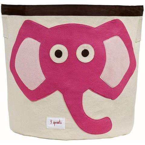 Корзина для игрушек 3 Sprouts Розовый слонёнок 67501