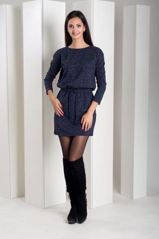 Ксена. Практичное молодежное платье. Синий