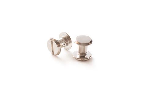Винт для ремня d-9, h-5 мм, никель