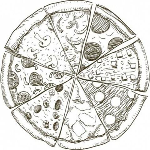 Піца зі шпинатом, цукіні, креветками і соусом песто