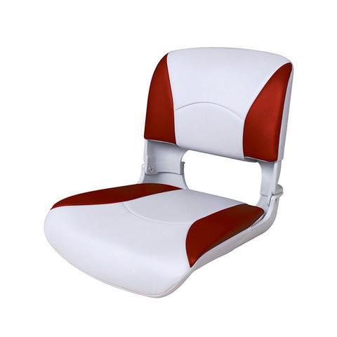 Сиденье пластмассовое складное с подложкой Deluxe All Weather Seat, бело-красное