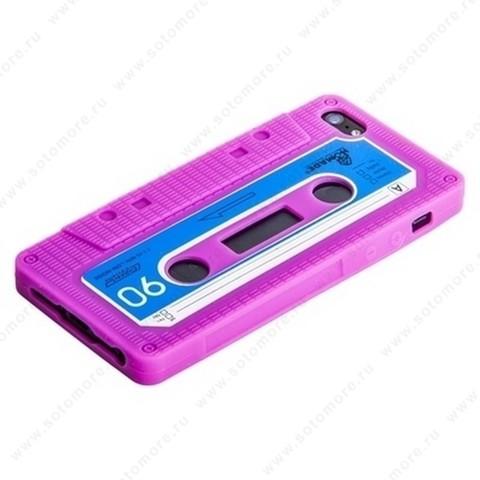 Накладка силиконовый для Apple iPhone SE/ 5s/ 5C/ 5 кассета малиновый