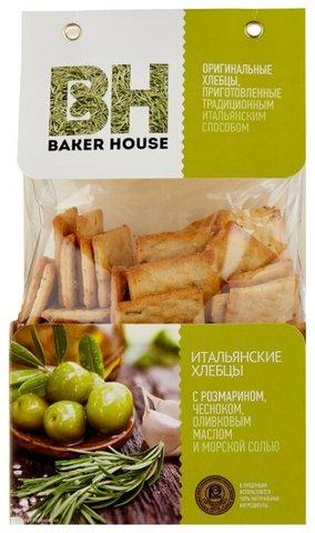 Хлебцы итальянские с розмарином и чесноком Baker House, 250г