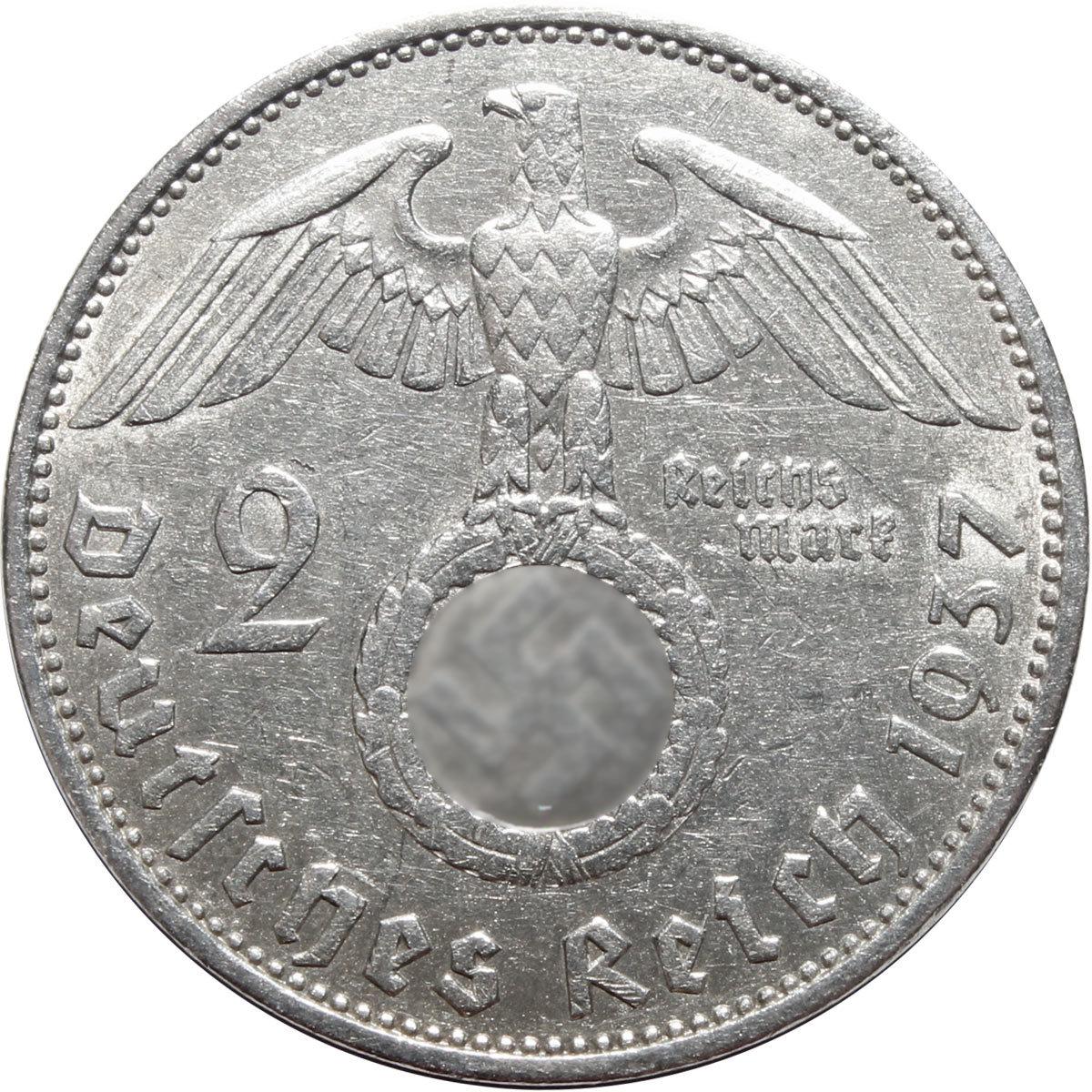 2 марки 3 рейх 1937 (А) XF