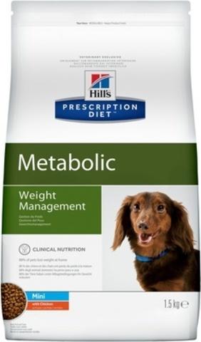 Hill's Диета сухой корм для собак Metabolic mini для коррекции веса 1,5кг
