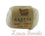 Пряжа Gazzal Baby Cotton 3410 молочный