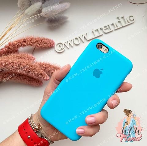 Чехол iPhone 6/6s Silicone Case /blue/ ярко-голубой original quality
