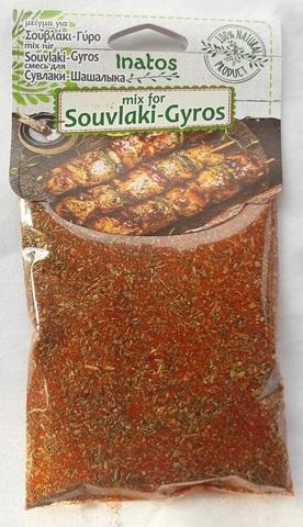 Греческая приправа для гирос и сувлаки Ivatos 50 гр