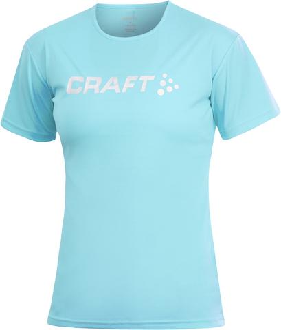 Футболка беговая женская Craft Active Run голубая
