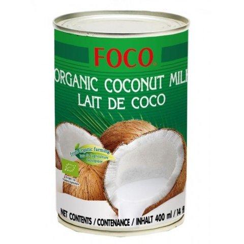 Органическое кокосовое молоко FOCO (жирность10-12%), 400 мл, евролист