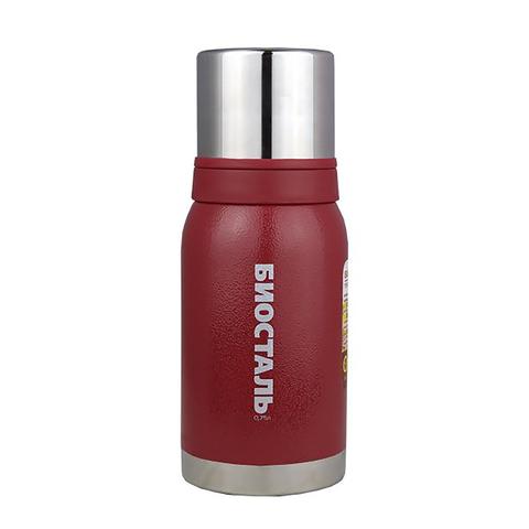 Термос Biostal Охота (0,75 литра), 2 чашки, красный