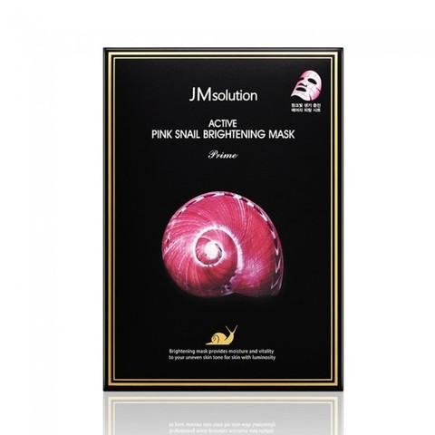 Восстанавливающая тканевая маска с экстрактом розовой улитки JM Solution Active Pink Snail Brightening Mask Prime