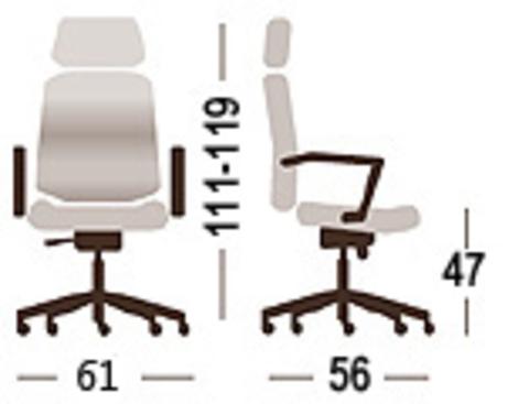 Кресло руководителя Директ Н