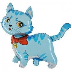 F Мини-фигура Милый котенок (голубой) 14''/34 см, 5 шт.