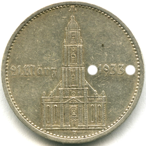 5 марок 3 рейх 1934 (А) Кирха с надписью VF-XF