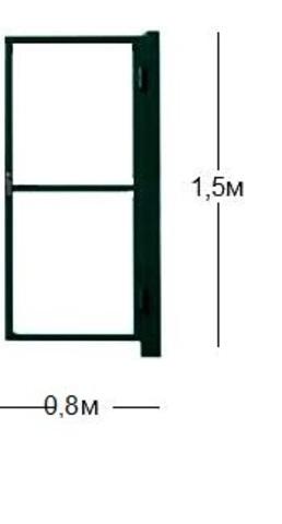 Калитка 0,8х1,5 садовая (каркас)