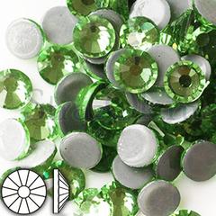 Стразы горячей фиксации клеевые стеклянные Peridot светло-зеленый на StrazOK.ru купить оптом