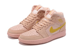 Air Jordan 1 Retro Mid 'Coral/Gold'