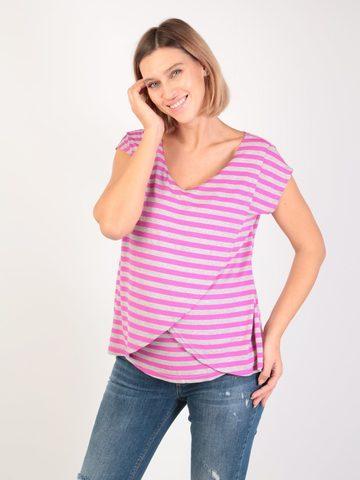 Евромама. Блуза для беременных и кормящих на запах вискоза, сиреневый