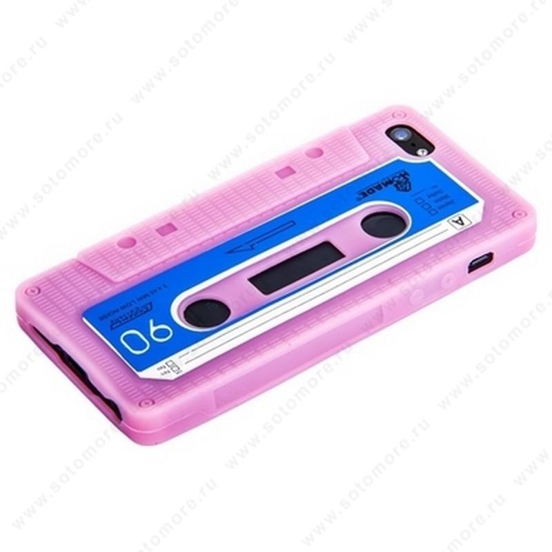 Накладка силиконовый для Apple iPhone SE/ 5s/ 5C/ 5 кассета розовый