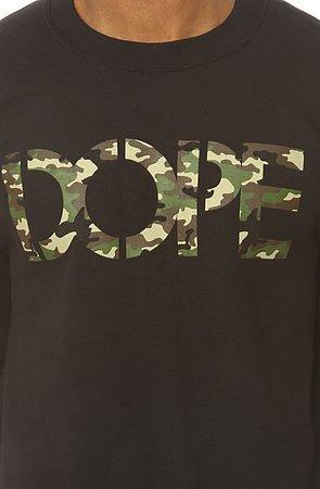 Свитшот Dope камуфляж фото логотип