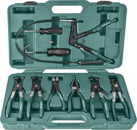 AR060024A Набор щипцов для демонтажа пружинных хомутов патрубков, 9 предметов