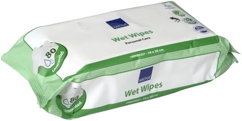 Салфетки влажные очищающие ABENA 80 шт