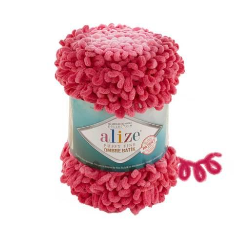 Купить Пряжа Ализе Пуффи Файн Омбре Батик - цвет 7279 | Интернет-магазин пряжи «Пряха»