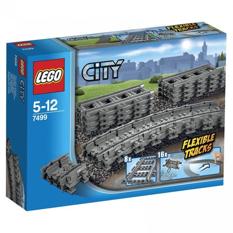 LEGO City: Гибкие пути 7499 — Flexible And Straight Tracks — Лего Сити Город