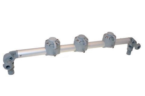 Тарга с тремя замками Gr610-3FMr232, 610 мм, серая