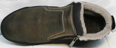 Ботинки мужские натуральная кожа натуральный мех Rifellini Rovigo 046 Brown Black.