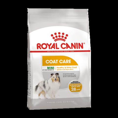 Royal Canin Mini Coat Care Сухой корм для собак с тусклой и сухой шерстью