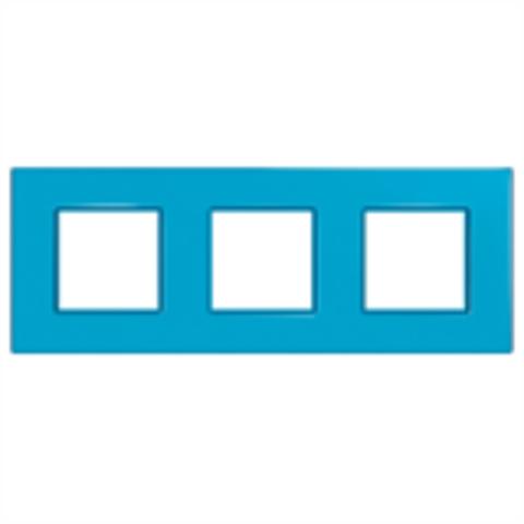 Рамка на 3 поста. Цвет Голубика. Schneider Electric Unica Quadro. MGU4.706.26