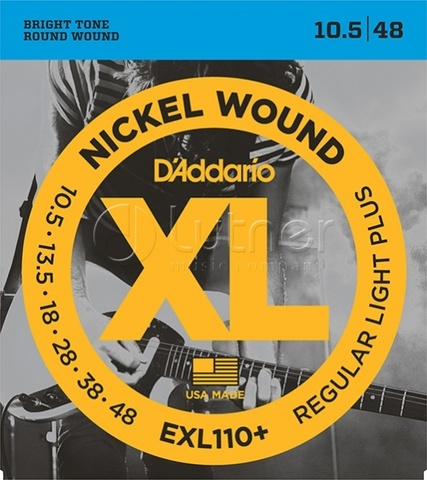 D'Addario EXL110+ Nickel Wound Комплект струн для электрогитары
