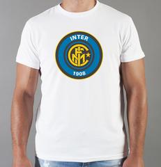 Футболка с принтом FC Internazionale (ФК Интернационале) белая 009