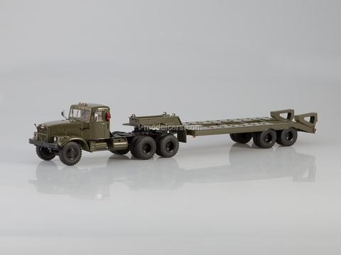 KRAZ-258B1 with semitrailer heavy-duty ChMZAP-5523 khaki 1:43 Start Scale Models (SSM)