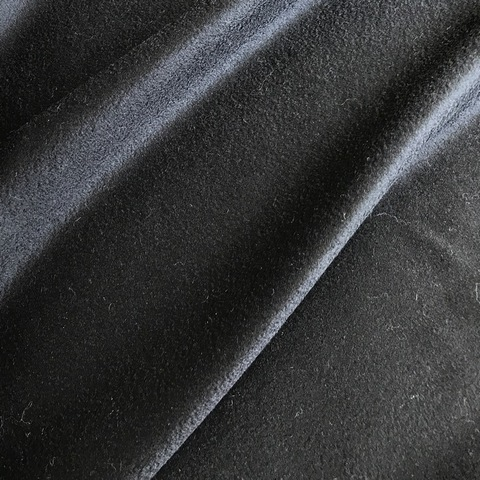 Ткань пальтовая Loro Piano черный цвет 3038