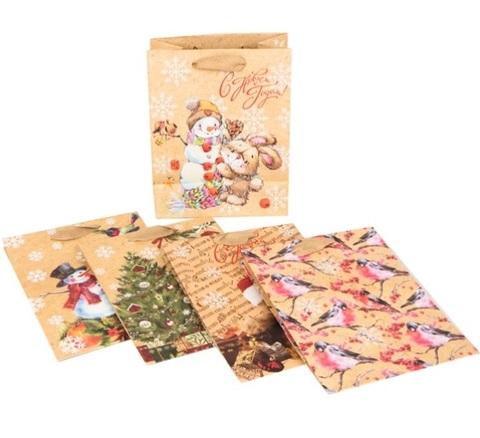 Пакет подарочный крафт