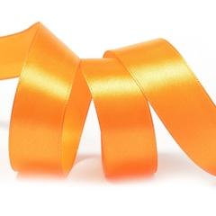 Лента Атлас Оранжевый, 1,2 см * 22,85 м.