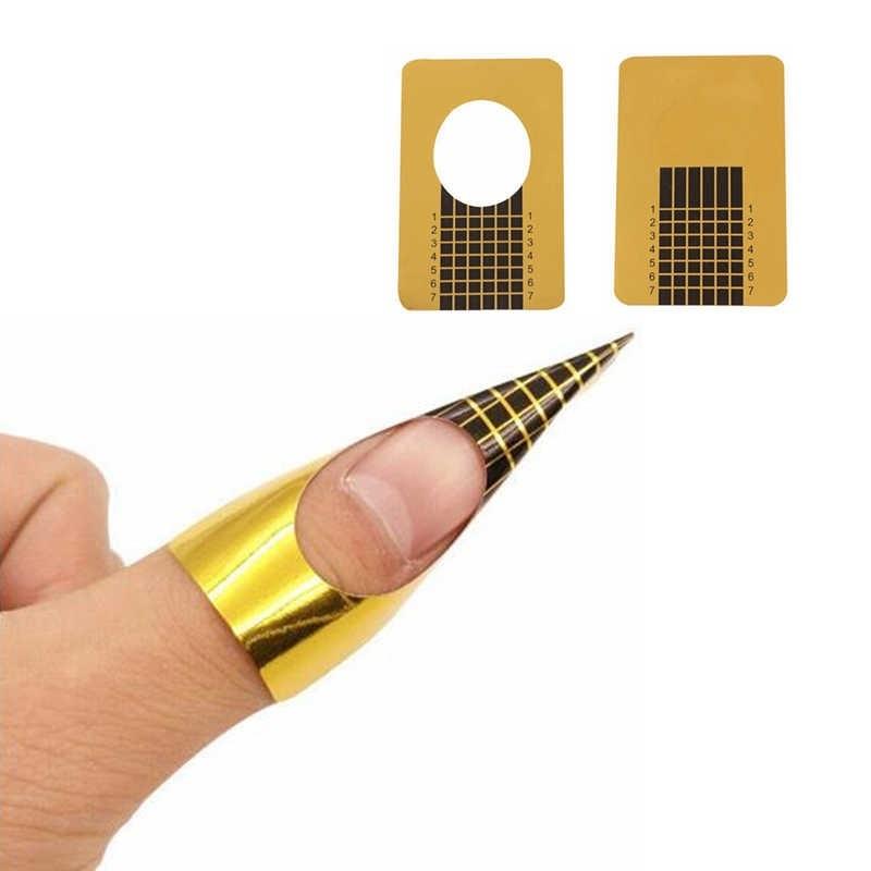 Одноразовые формы (узкие, золотые), 500 шт