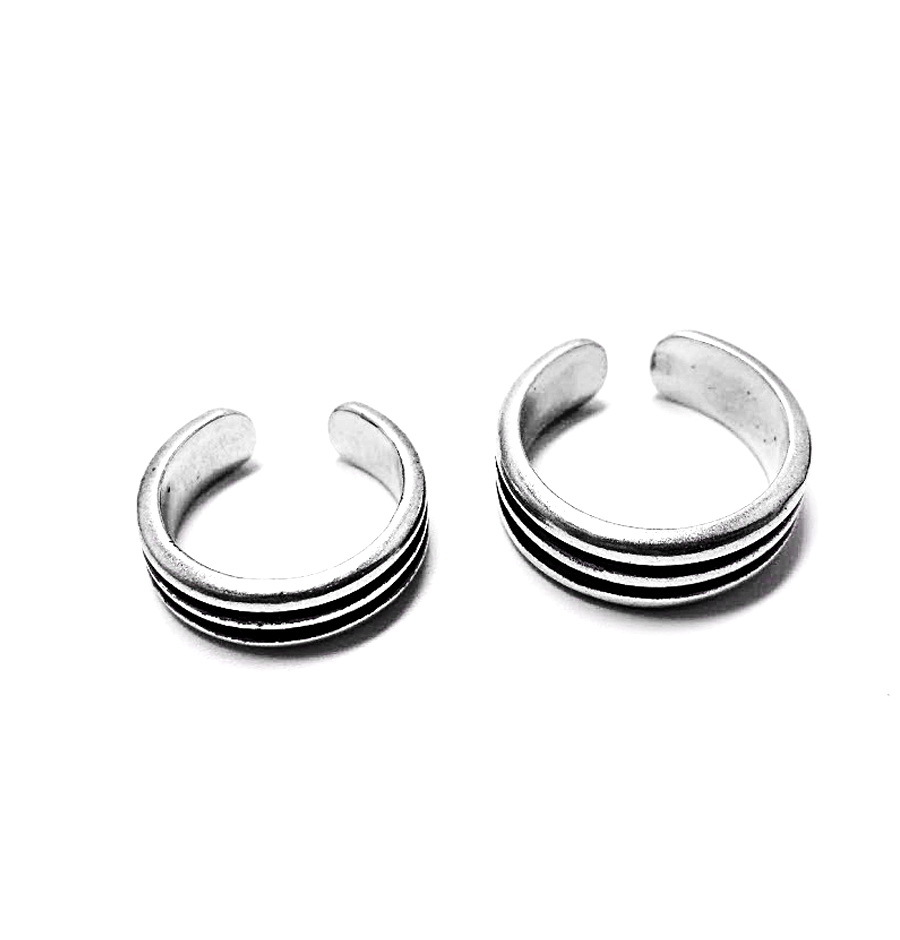 Phalanx ring Rock 'n' roll trio, the small one, sterling silver