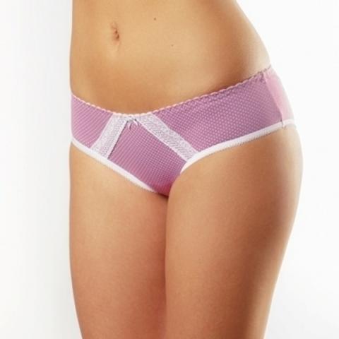 Lisse Трусы женские слипы модель 1-022 размер 110 цвет: розовый набивной горох