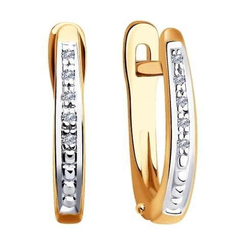 1021316 - Серьги из золота с бриллиантами