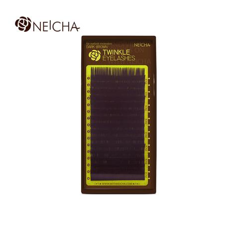 Ресницы NEICHA нейша 16 линий темно-коричневые  TWINKLE (отдельные длины)