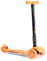 Самокат трехколесный для детей 3-12 лет, макс. нагрузка 80 кг, BIBITU PLAY SKL-07D , cкладной, Оранжевый